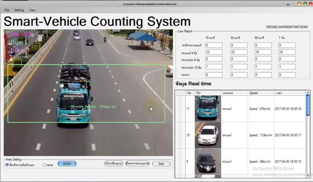 ระบบตรวจนับจำนวนรถบนท้องถนน